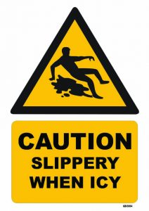 Caution Slippery When Icy