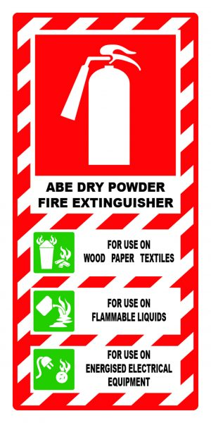ABE dry powder fire extinguisher