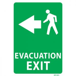 Evacuation Exit Sign Arrow Left
