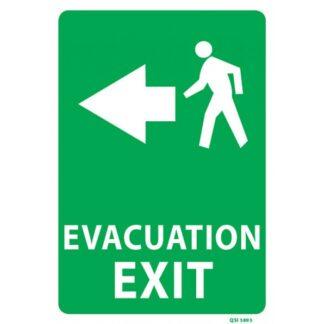 Evacuation Exit Sign Arrow Left