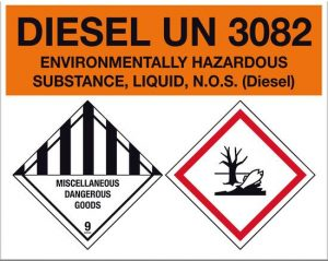 Diesel Environmentally Hazardous UN3082