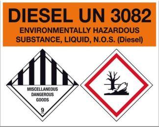 Diesel Environmentally Hazardous UN3082