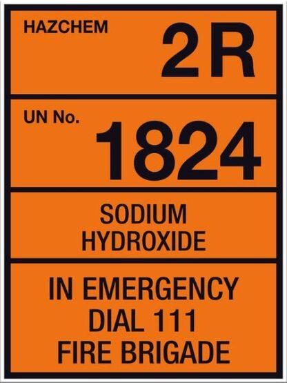 Hazchem Sodium Hydroxide 2R UN1824