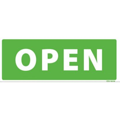 Open Closed Double Sided Sign
