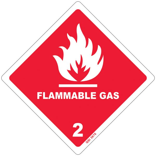 Flammable Gas 2 250mm x 250mm
