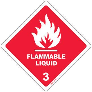 Flammable Liquid 3 250mm x 250mm