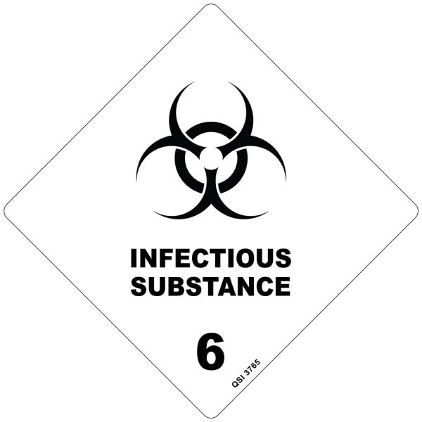 Infectious Substance 250mm x 250mm