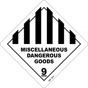 Miscellaneous Dangerous Goods 250mm x 250mm