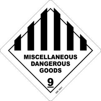 Miscellaneous Dangerous Goods 250mm x 250mm