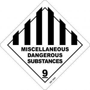 Miscellaneous Dangerous Substances 250mm x 250mm