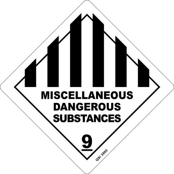 Miscellaneous Dangerous Substances 250mm x 250mm