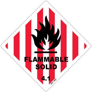 Flammable Solid 4.1 250mm x 250mm