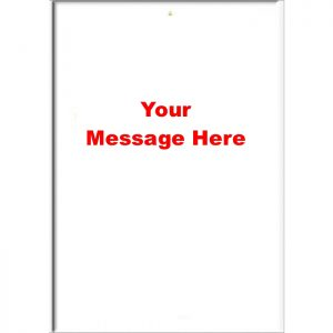 Custom Blank Portrait Style Specify Your Own Message