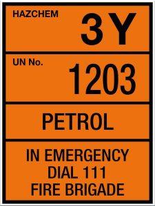 Hazchem Petrol 3Y UN1203