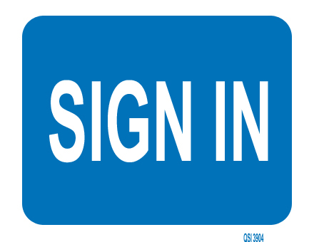Sign In 340mm x 240mm