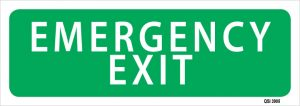 Emergency Exit 450mm x 180mm