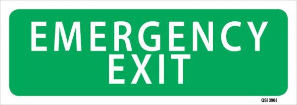 Emergency Exit 450mm x 180mm