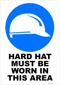 Hard Hat Must Be Worn In This Area Sign