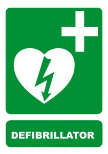 Defibrillator Sign 240mm x 340mm