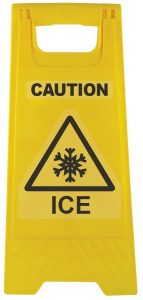Caution Icy A Frame Triangle With Snow Flake