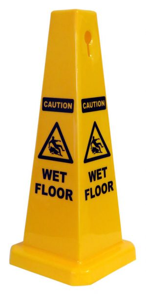 cone sign caution wet floor