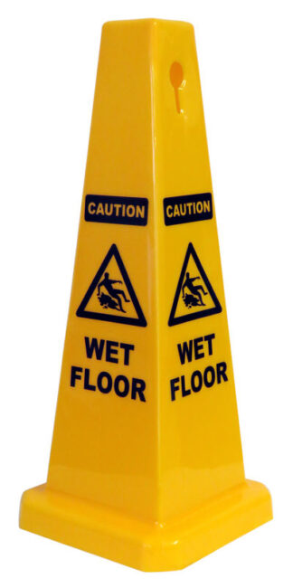 cone sign caution wet floor